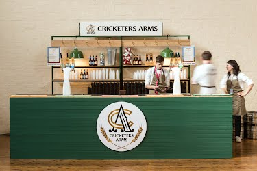 CRICKETERS ARMS - GABS - 2016 | Creative concept design, brand activation, build, production. Royal Exhibition Building, Melbourne for Asahi Premium Beverages