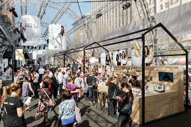 City Square Hub | Event interior design, spatial planning and production. City Square, Melbourne for Melbourne Spring Fashion Week