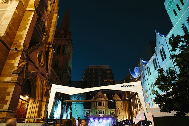 Melbourne Music Week Hub | Event Design and Production St Paul's Cathedral, Melbourne for City Of Melbourne