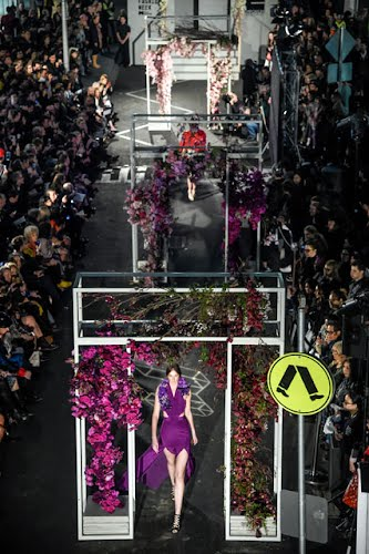 Spring Fashion Week - Opening Runway | Fashion runway concept design and production. Little Bourke St, Melbourne for Melbourne Spring Fashion Week