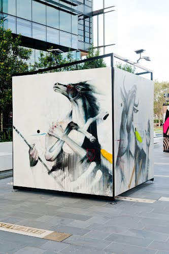 Open | Exhibition and artwork display design, production. Darling Quarter, Sydney for Darling Quarter