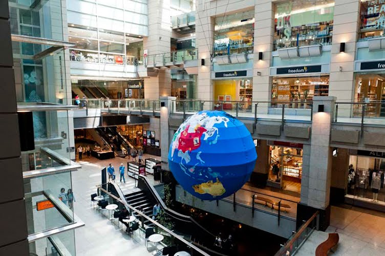 T-World Globe | Exhibition design and production. The Galeries, Sydney CBD for The Galeries