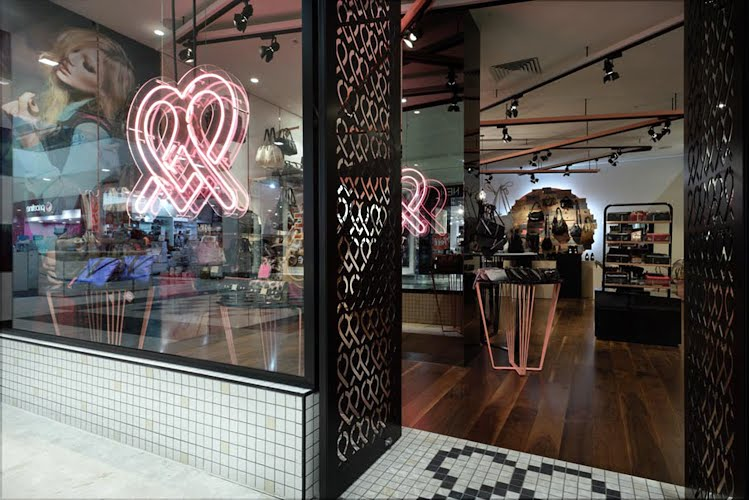 Store Concept and Handwriting | Retail interior design and handwriting. Melbourne, Victoria for Fiorelli
